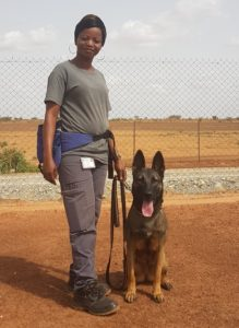 Kira & Stéphanie all female narcotic detection dog team