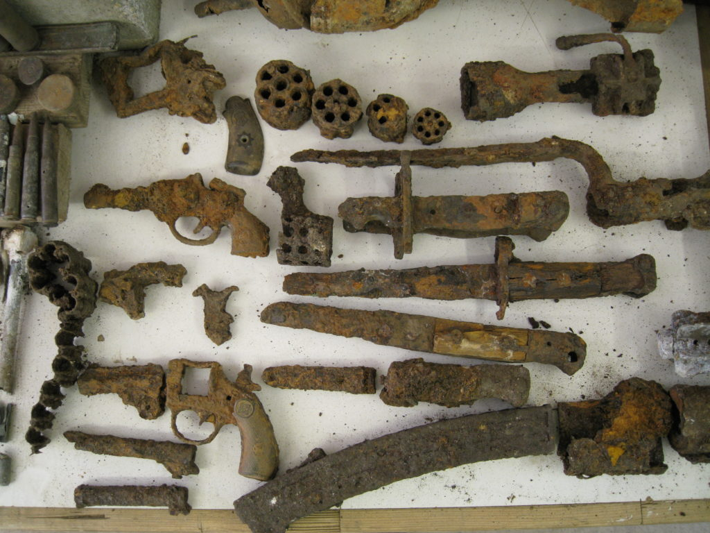 Ancient weapons found by SafeLane