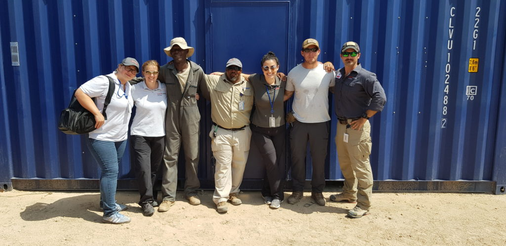 Mel, Debbie, and Marta on a project visit to Somalia in 2019