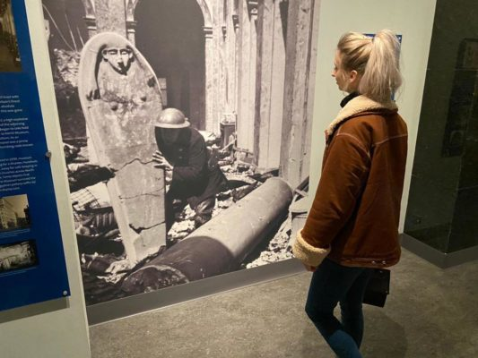 Senior Researcher Emily Damerell on a trip to museum