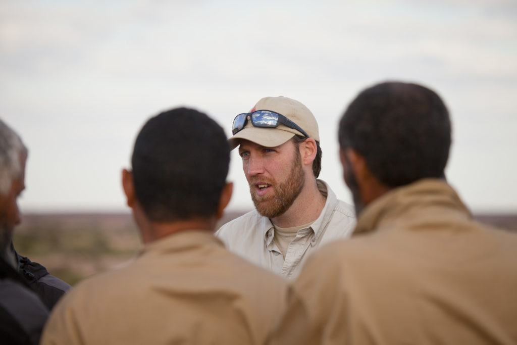 Adam Ainsworth CEO in Western Sahara